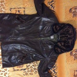 winter jacket with rabbit lining
