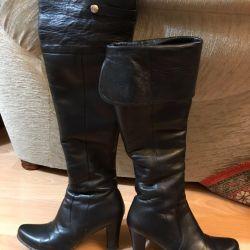 Kürklü deri çizme r. 38