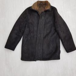 Δερμάτινο παλτό από φυσικό δέρμα προβάτου