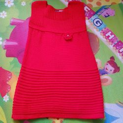Dress knitted for a new girl