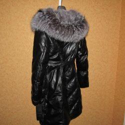 Пальто пуховик Кожа Турция