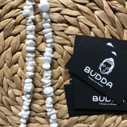 White Agate Beads