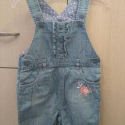 Semi-overalls jeans new