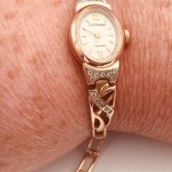 Ceas de aur 585 standart cu diamante