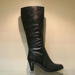 70. Winter boots leather p35,36,37 nat.meh