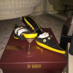 Suede παπούτσια φυσικό r. 37 πακέτο