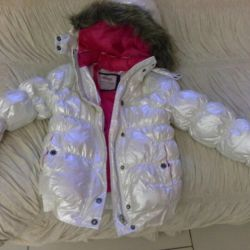 Down jacket for girls 128-134 cm