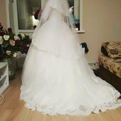 Wedding dress with hijab 48-52