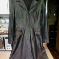 Leather coat (raincoat). Clockhouse. Spring. 44 size