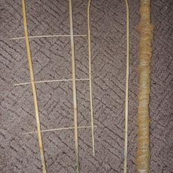 Опоры для цветов из бамбука