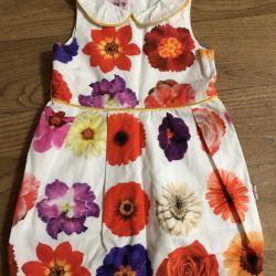 Çiçekli şık pamuk elbise