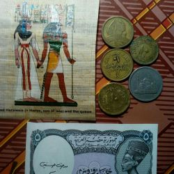 Банкноты,монеты Египет