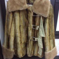 The fur coat is Turkish, fur fabric 44-48 size