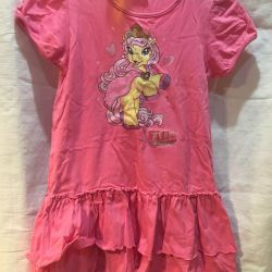 Dress pink on growth 116-122
