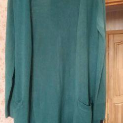 Кардиган насыщенного зелeного цвета