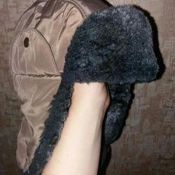 Шапка-шлем зимняя,2шт