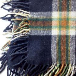 Plaid New! Wool 100%. 140 to 140 cm