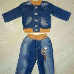 Джинсовий костюм на хлопчика