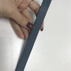 Genuine leather bracelet blue