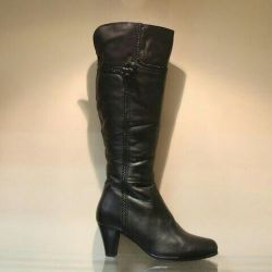 95. Winter boots p.36,38,39 leather, nat.meh