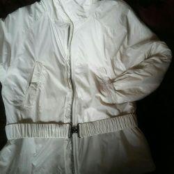 Very light, women's jacket, white.