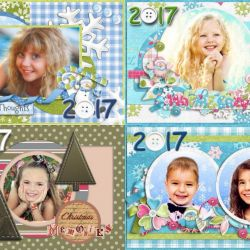 Calendars with photos of the child and family