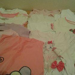 Kızlar için t-shirtler, 1 adet için fiyat.