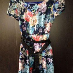 Платье в пол с цветочным принтом (р.40-42)