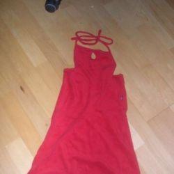 Red beach dress 44