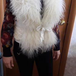 Vest natural fur - LAMA