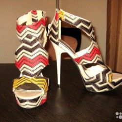 New American high heeled sandals