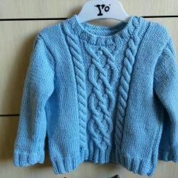 Χειροποίητα πλεκτά πουλόβερ και γιλέκα r80-86, 86-92