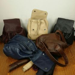A leather backpack! Handwork!