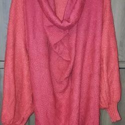 Rochie-tunică, tricotată, roșie
