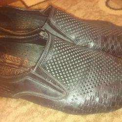 Кожанные туфли 44
