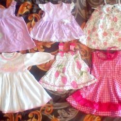 Rochiile strălucitoare pentru copii de la 5-6 luni până la 2 ani