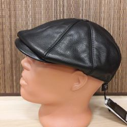 Cap leather with fur