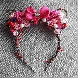 Handmade wreath with ears