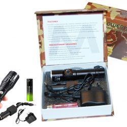 Светодиодный перезаряжаемый фонарик -новый