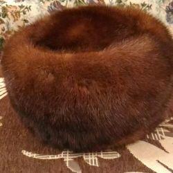 Women's mink hat