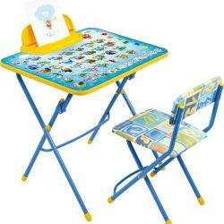 Bir çocuk mobilyası seti: bir masa ve bir sandalye (sanat. - q2-9