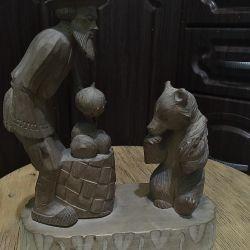 SSCB'de yapılan ahşap heykel