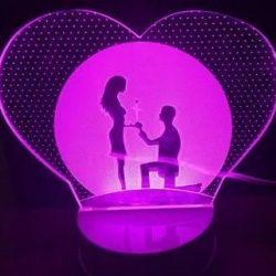 Lampa 3D (lumina de noapte) iubitorii liberi. Ven