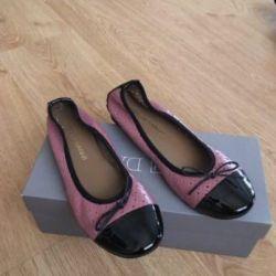 Bale ayakkabıları yeni !!! orijinal İtalya 36 р deri natures