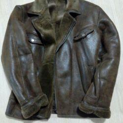 Erkekler için koyun derisi ceket