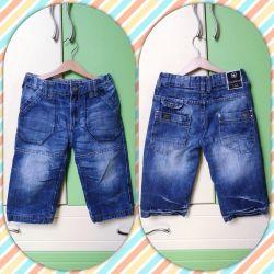 Extra long denim shorts
