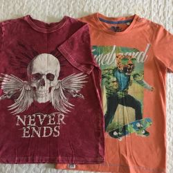 2 pcs. T-shirts 140-146 for boy