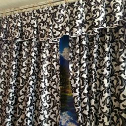 Blackout curtains with pelmet 3 and 4 m wide