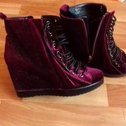 New Velvet Ankle Boots