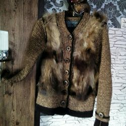 Handmade! Нове пальто куртка з натур. хутром